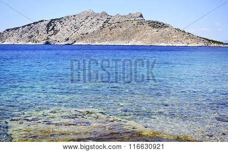 beach in Aegina island Greece