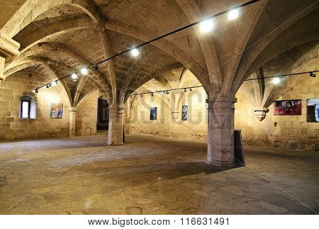 inside of Bellapais Abbey in Northern occupied Cyprus