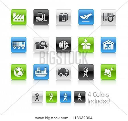 Industry and Logistics Icons / The file Includes 4 color versions in different layers.