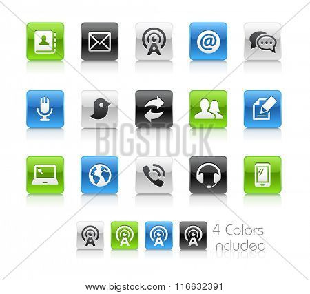 Telecommunications Icons / The file Includes 4 color versions in different layers.