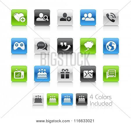 Social Communications Icons / The file Includes 4 color versions in different layers.