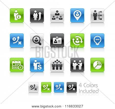 Business Efficiency / The file Includes 4 color versions in different layers.