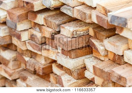 Wood Stack For Construction Job