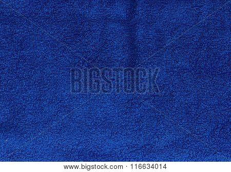 Dark Blue Towel Texture.
