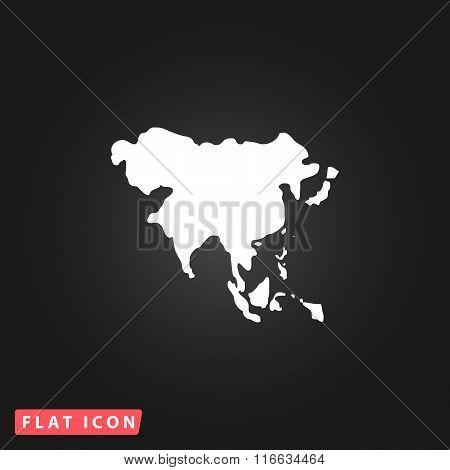 Asia map vector