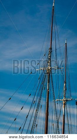 mast of a tall ship