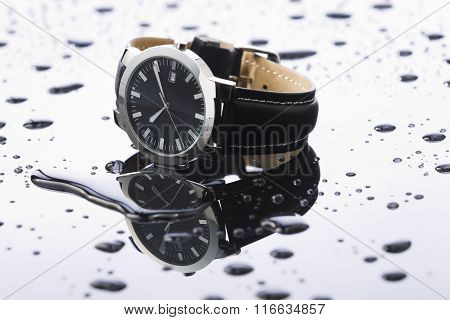 Wristwatches On A Light Background Acrylic