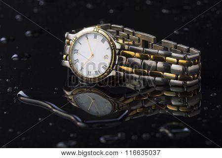 Wristwatches On A Dark Background Acrylic