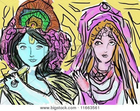 Sri Sri Radha Radha-Krishna