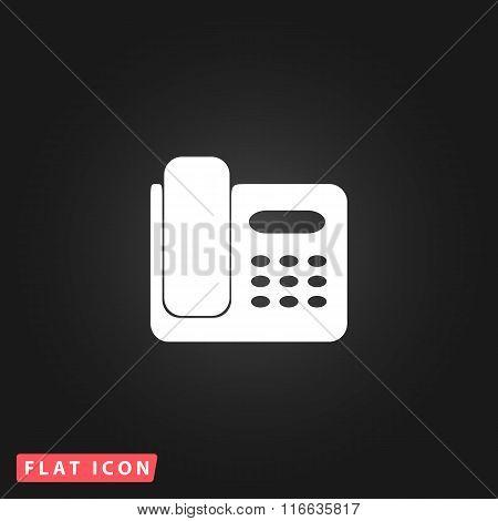 Vector fax machine illustration
