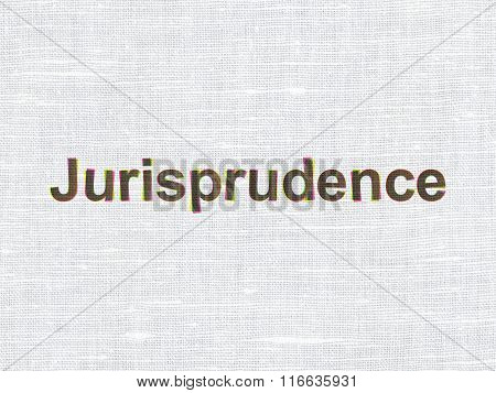 Law concept: Jurisprudence on fabric texture background