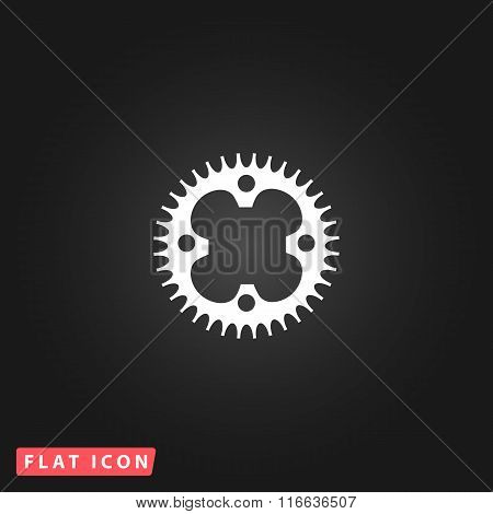 bicycle sprocket flat icon