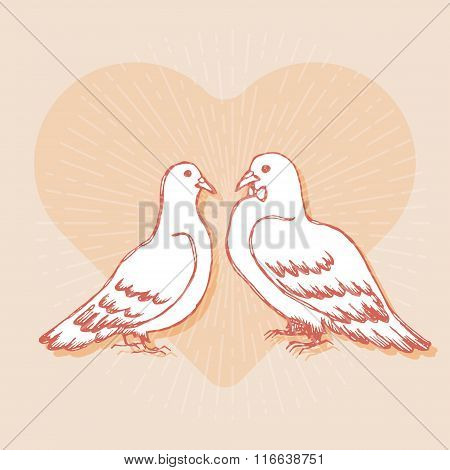 Design element for wedding greeting card