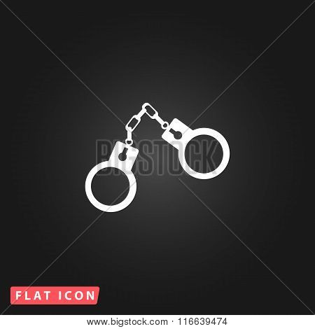 handcuffs flat icon