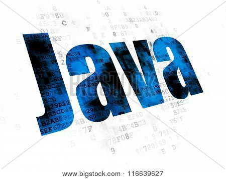Programming concept: Java on Digital background