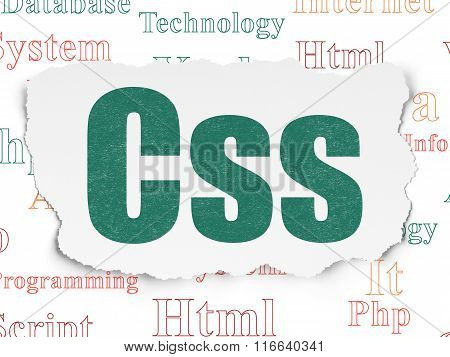 Programming concept: Css on Torn Paper background