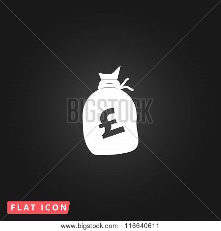 Money bag icon. Pound GBP