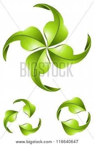 Eco green arrows