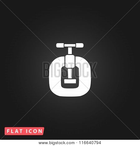 Bench vices flat icon