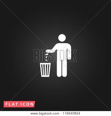 bin symbol on  background