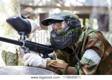 Shooter In Paintball Mask