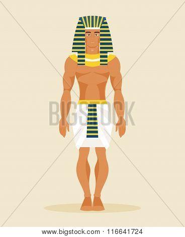 Ancient Egyptian Man. Vector Illustration