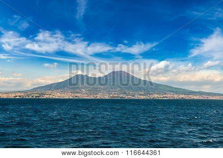 Mount Vesuvius In Naples, Italy