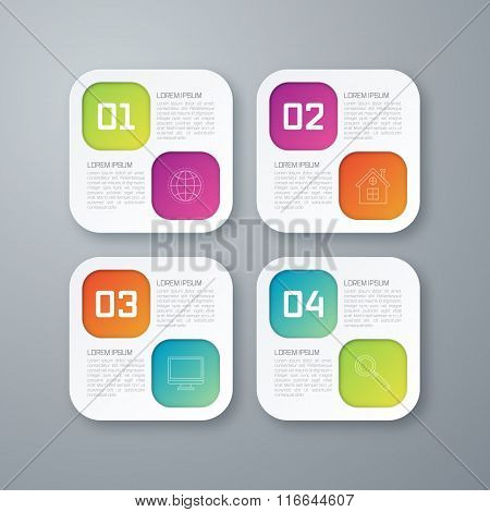 Template rectangles design on the grey background
