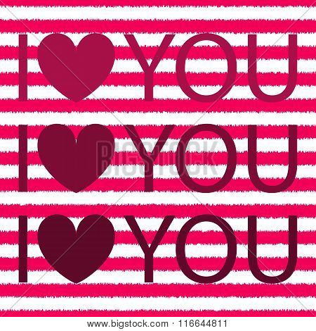 I love you with heart. shirt design