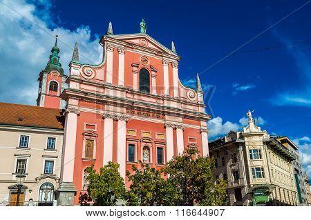 Franciscan Church In Ljubljana