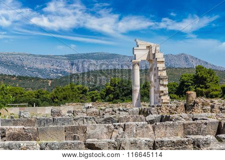 Ruins In Epidavros, Greece