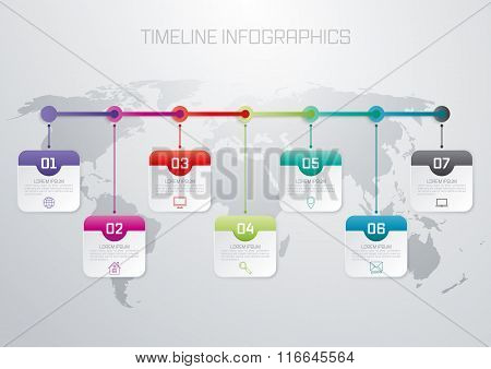 Vector illustration infographic timeline