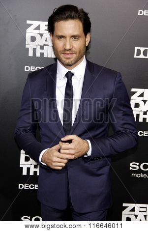 LOS ANGELES, CALIFORNIA - December 10, 2012. Edgar Ramirez at the Los Angeles premiere of 'Zero Dark Thirty' held at the Dolby Theatre in Los Angeles.