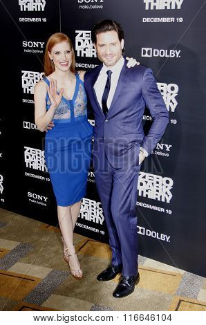 Edgar Ramirez and Jessica Chastain at the Los Angeles Premiere of