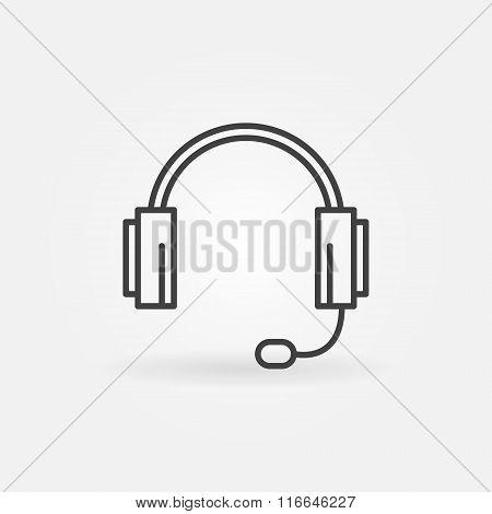 Headphone icon or logo