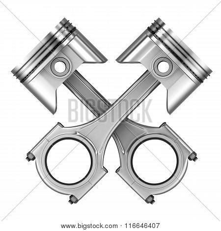 Two Engine Piston