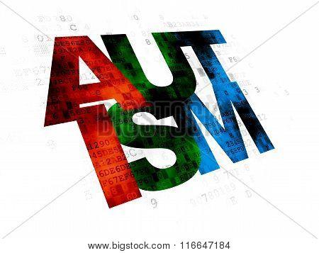 Health concept: Autism on Digital background