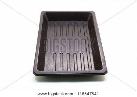 Black Plastic food container