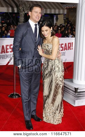 Channing Tatum and Jenna Dewan at the World premiere of 'Hail, Caesar!' held at the Regency Village Theatre in Westwood, USA on February 1, 2016.
