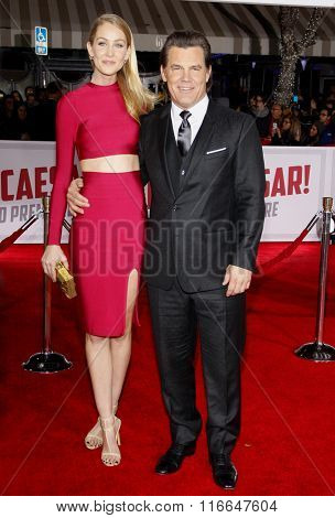 Josh Brolin and Kathryn Boyd at the World premiere of 'Hail, Caesar!' held at the Regency Village Theatre in Westwood, USA on February 1, 2016.