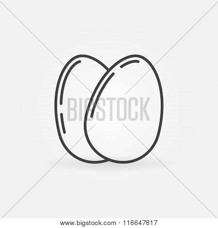 Eggs outline icon