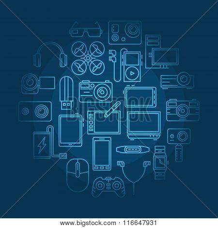 Electronics vector illustration
