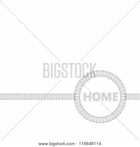 The Inscription - Home. Polygonal design style letterhead and brochure