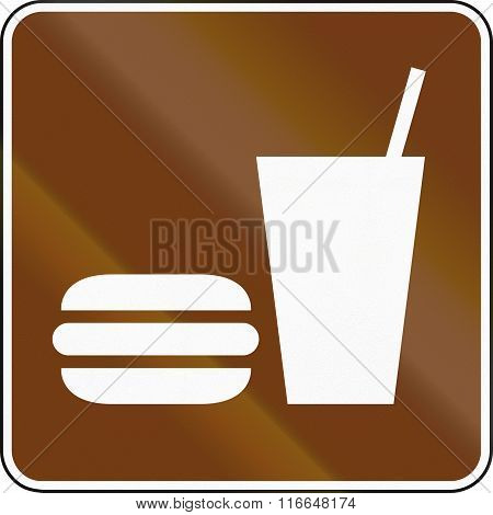 United States Mutcd Guide Road Sign - Fast Food