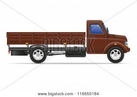 Cargo Truck For Transportation Of Goods Vector Illustration