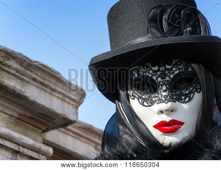 Mysterious woman at Venice Carnival