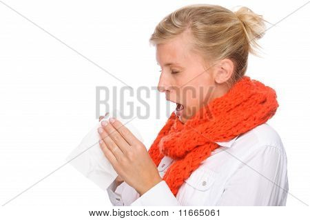 Woman With Handkerchief