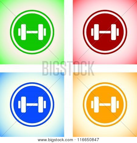 weights icon set
