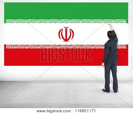 Iran Country Flag Liberty National Concept