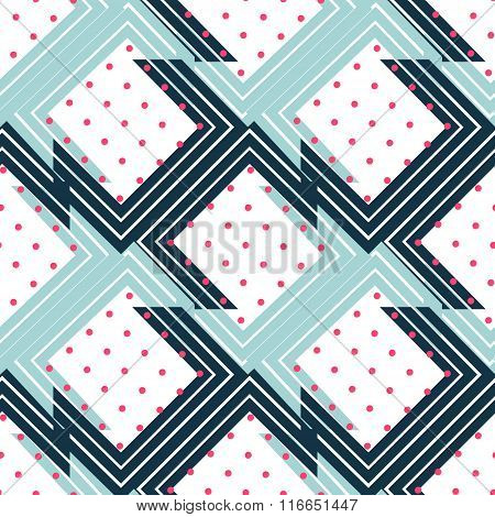 Seamless abstract geometric background pattern in vector.